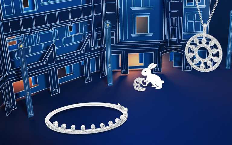 閃耀鑽石奇幻飾界!DE BEERS「Dewdrop」系列珠寶化身萌趣月兔 中秋佳節飛躍銀河歷險