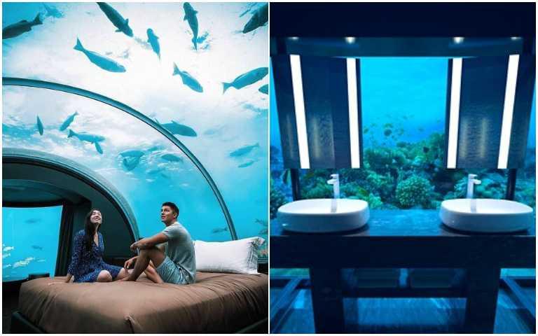 是誰住在深海的飯店裡!馬爾地夫海底villa,和鯊魚、海龜一起睡覺不是夢