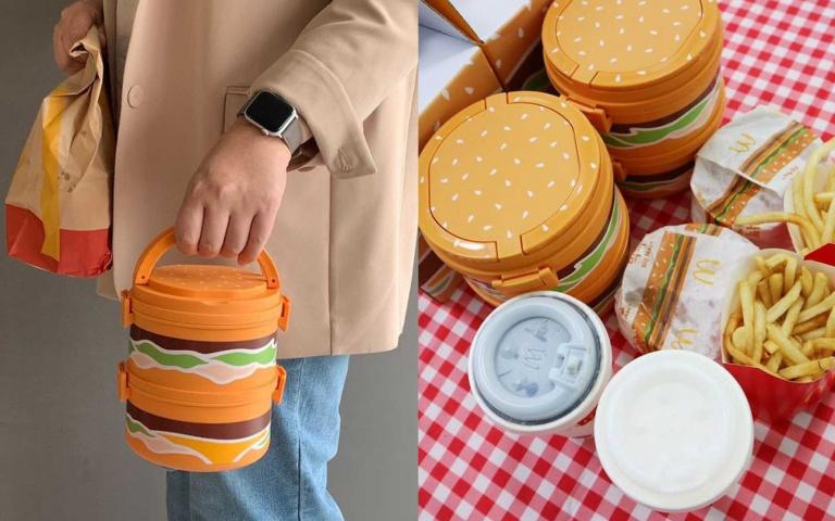 野餐就靠它撐場面!麥當勞推出限量「大麥克便當盒」,韓妞們搶破頭啦!