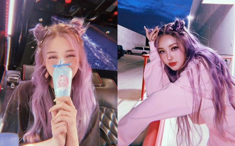 想像Pony大神擁有這麼美的仙氣紫髮色 別忘了染後怎麼護色最重要!