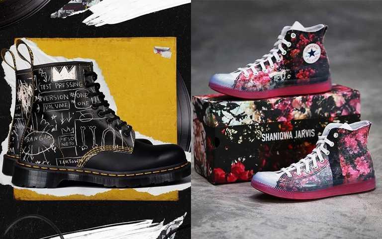 帆布鞋、馬汀靴向藝術家致敬!搭配要有型又不撞鞋 特色聯名鞋款先買起來!