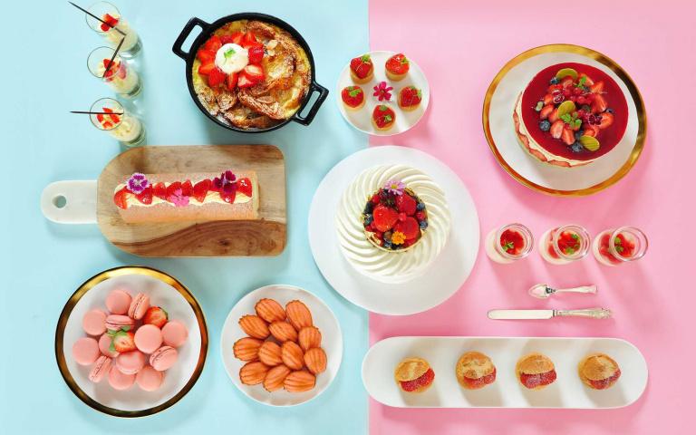 草莓控要尖叫啦!季節限定甜品吃到飽下殺69折 知名五星飯店推出超豪華「草莓饗宴」