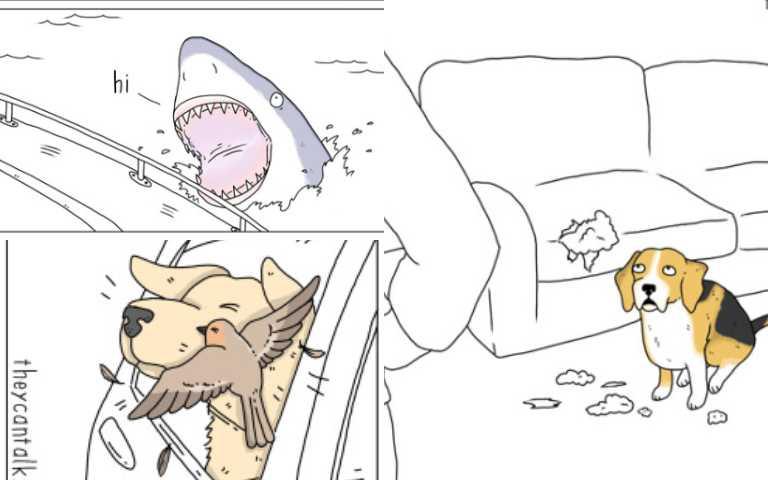 「如果動物會說話」15張插畫讓可惡的事都變可愛了!
