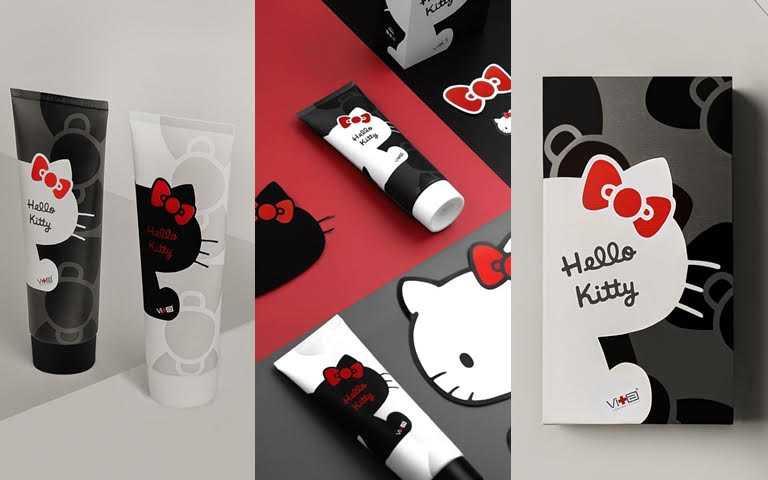這麼時髦的Hello Kitty妳有看過嗎?熱銷破億的超人氣洗顏霜穿上Kitty聯名新衣,黑白撞色造型不只可愛更時尚!