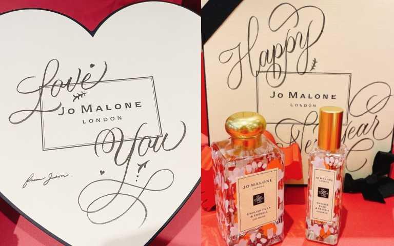Jo Malone London最熱賣的英國梨與小蒼蘭香水推出絕美新年限定版!瓶身變身成雪花紛飛的小蒼蘭葉~~超浪漫的!
