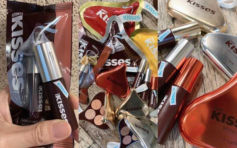 去年開賣3天全部完售的ETUDE*HERSHEY'S KISSES聯名彩妝再度登場啦~~還有超狂的KISSES公關盒整套要送你,抽到的人會幸運一整年阿!