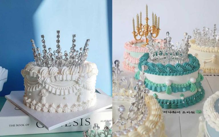 韓國夢幻擠花x華麗皇冠!公主吃的「皇冠蛋糕」