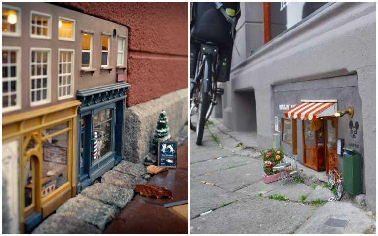 鼠輩限定!瑞典藝術家為老鼠們開設迷你商店,奶酪、堅果開賣啦!