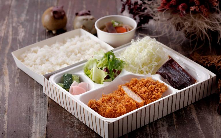 餐飲集團優惠-2/便當自取68折起 買日式餐盒送豬排 百貨取餐免入內