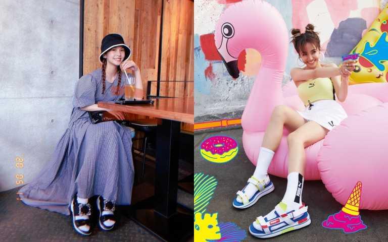 蔡依林、楊丞琳兩大天后都在穿!這個夏天不來一雙「運動風涼鞋」怎麼行!