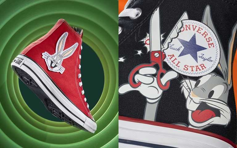 Bugs Bunny兔寶寶大剪Converse標籤搞怪聯名!童心復古X經典潮人必收款!