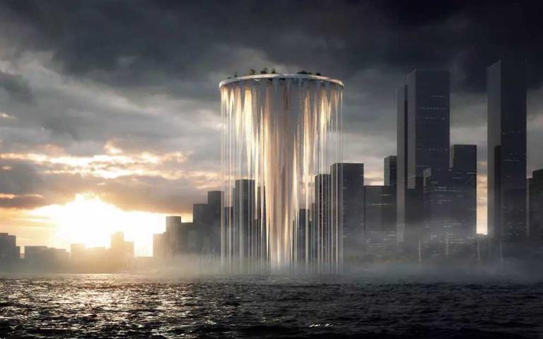難道是「幽浮升空」?建築師打造「海灣浮島塔」超有未來感,「仙境中喝咖啡」將成真!
