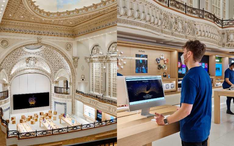 Apple改造百年「高塔劇院」,超華麗零售店在洛杉磯開幕!