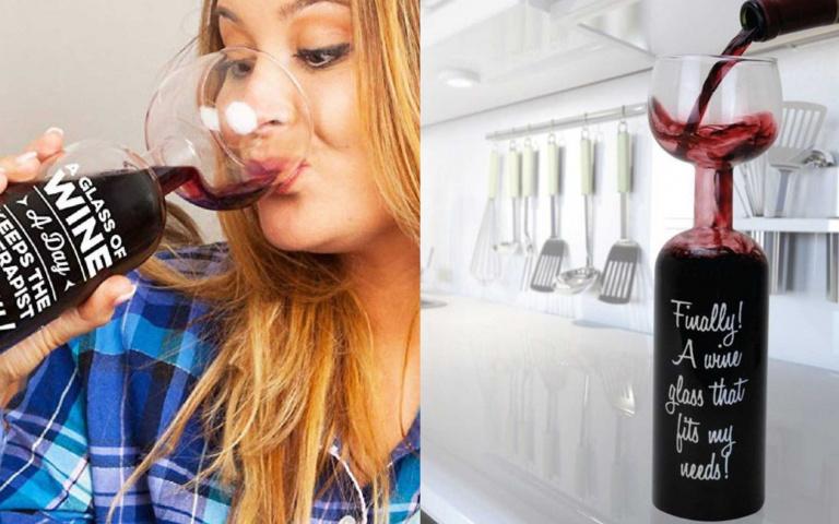 快Tag你的酒鬼好友!能裝750ml的「終極紅酒玻璃杯」,「省去倒酒時間」喝到chill翻天!