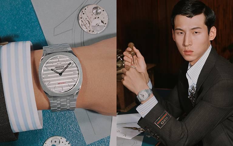 高級製錶初登場!GUCCI「25H」7.2毫米超薄腕錶,首款自製機芯、一體式鍊帶,多層次結構玩轉時間符碼