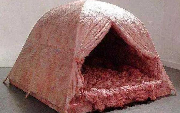 史上最恐怖!充滿血腥味的「內臟帳篷」 撐過整晚就有一萬元!