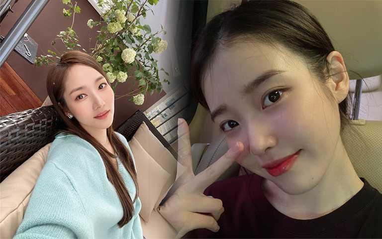 現在韓星最愛粉嫩頰、蜜桃眼妝,免套濾鏡就有滿滿少女感!