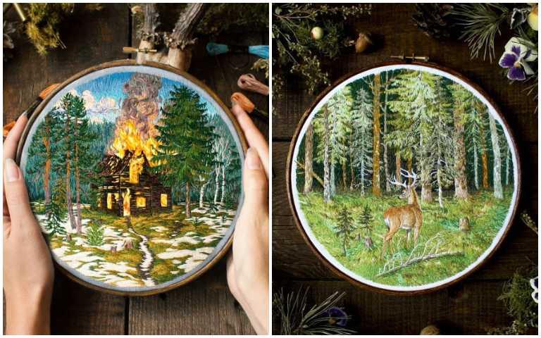 絕美刺繡!藝術家用針線勾勒出細膩大自然,打造自己的想像世界!