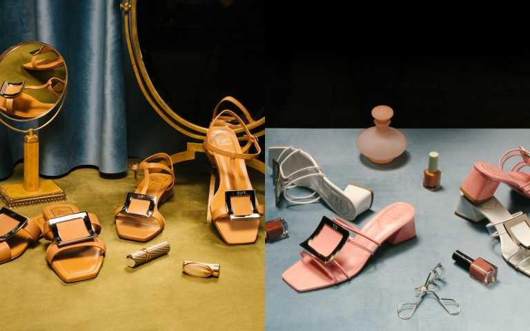 女生最愛的方釦鞋進化了! Roger Vivier推出復古跟型「Biki Viv方釦涼鞋」