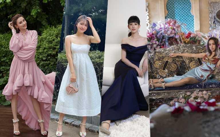 張柏芝、蔡依林、南韓人氣女團Red Velvet成員Yeri、孟耿如都穿上優雅的夢幻珍珠高跟鞋,讓腳踝更性感!
