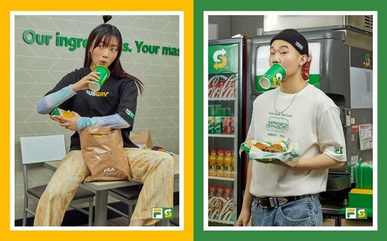 韓國FILA攜手潛艇堡速食店SUBWAY推出創意有趣的新休閒聯名時尚!