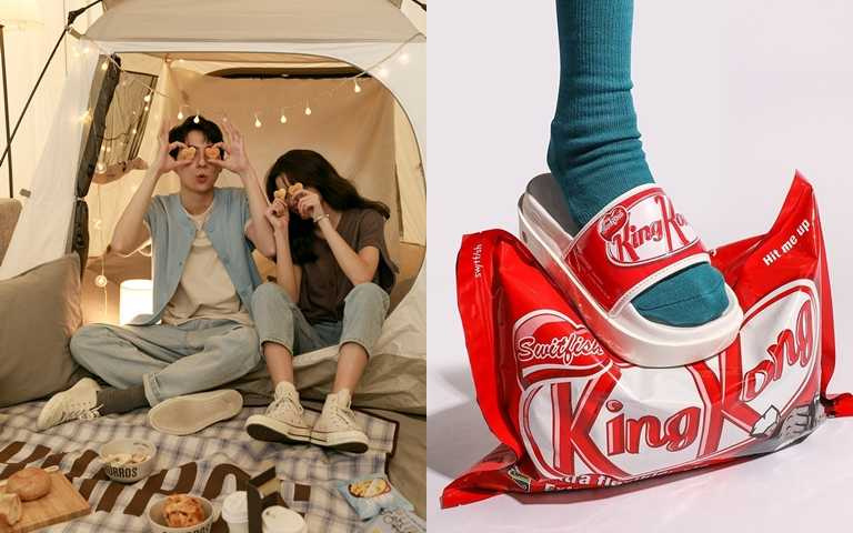 吉拿棒、巧克力棒通通聯名起來!韓風文青設計打造甜蜜可愛的夏日情侶Look!