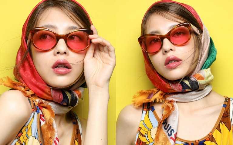最潮有色太陽眼鏡搭配奶茶玫瑰唇 今夏超前部屬你的繽紛時髦度!