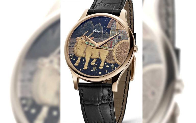 福牛新機轉好運!蕭邦「L.U.C XP金牛蒔繪」生肖腕錶  百年日本彩繪漆藝熠熠蘊含光