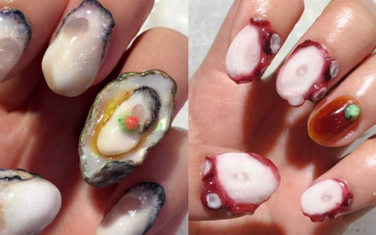 超獵奇「海鮮美甲」!肥美章魚自帶醬油+哇沙米 再加碼「噴汁大牡蠣」