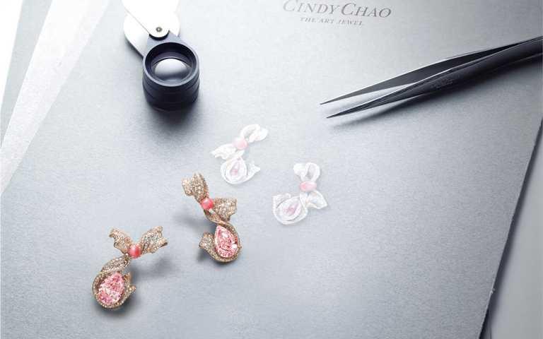 總值30億傳奇粉鑽初登場!藝術珠寶CINDY CHAO彩鑽創作 一次集結10顆珍稀粉紅彩鑽