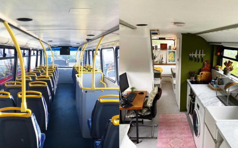 巴士變豪宅!超狂英國情侶只花68萬台幣,就擁有獨一無二的「樓中樓套房」