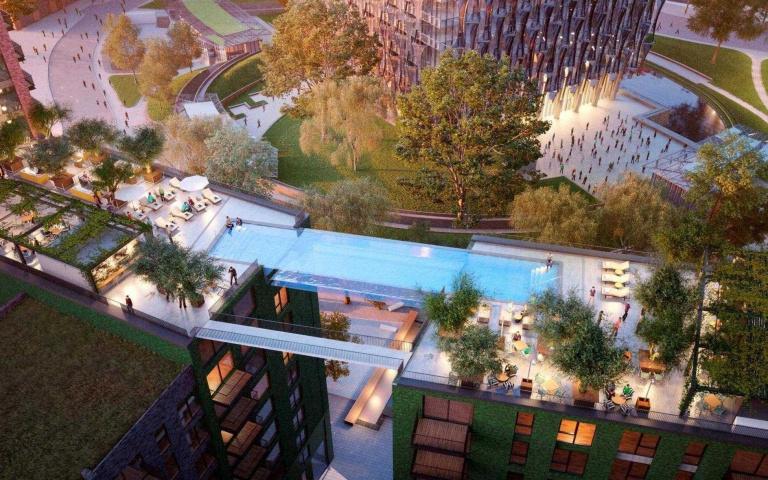 足足有10層高!超猛「空橋游泳池」誕生,倫敦美景盡收眼底!
