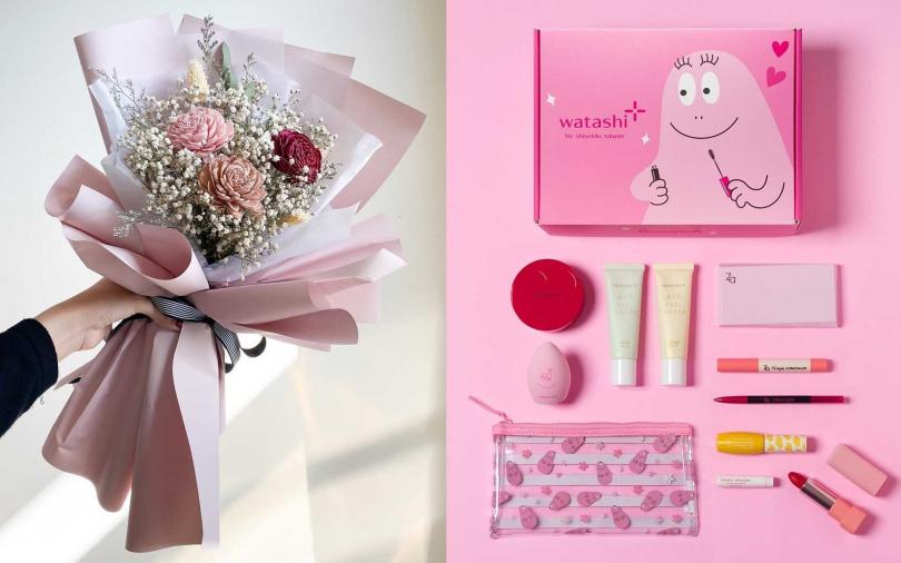 買吹風機送漂亮花束、買彩妝品送超萌泡泡先生化妝包...這麼棒的禮物每個女孩都想要!