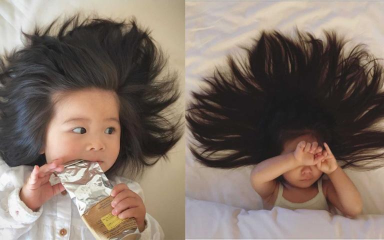 潘婷最小美髮大使「炸毛寶寶」, 3歲擁有波光閃閃及腰髮