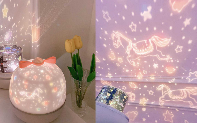 韓國夢幻星空投影夜燈,給你一晚的海底世界、浩瀚宇宙
