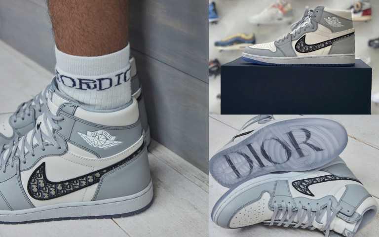 (有片) 此生必買、吃土也要收藏它!球鞋迷們終於等到Dior x Air Jordan 1 老花鞋的正確上市日期了,全台超限量!