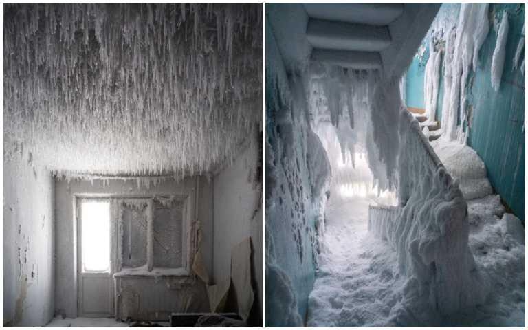 真實版冷凍庫!歐洲最冷城市沃爾庫塔,被雪堆滿的公寓!