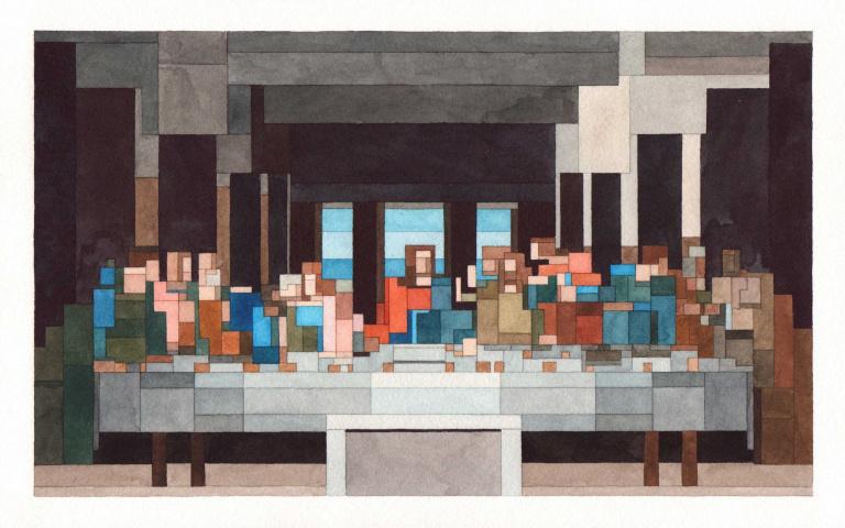 好像打了「馬賽克」一樣!手繪8位元畫家Adam Lister~
