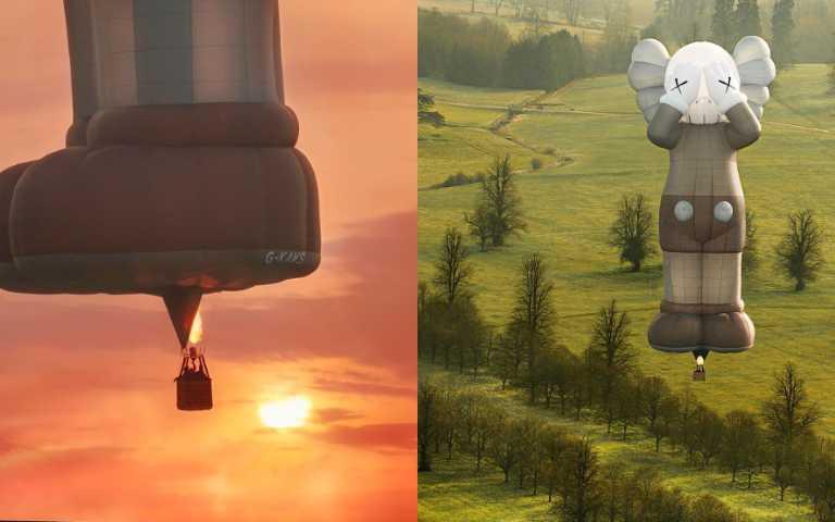 KAWS從太空回到地球!世界之旅第六站變成「巨型熱氣球」,在英國緩緩升空!