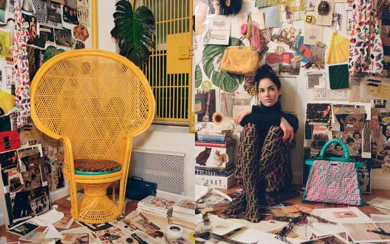 夜晚會發光的Peekaboo!FENDI攜手紐約藝術家 Sarah Coleman,為邁阿密設計展打造特別限量款Peekaboo
