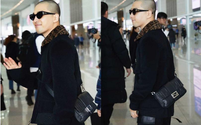 BIGBANG 太陽前進米蘭男裝週   機場時尚一身黑