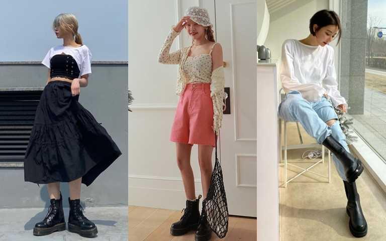 今年韓妞春夏時尚必搭一雙厚底靴!帥帥的時髦氣質原來這麼好搭!