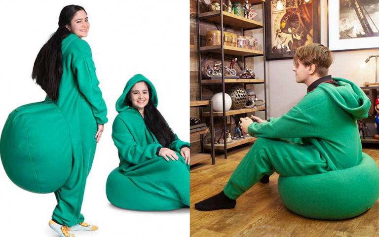 能坐著就不要站著!「懶骨頭連身衣」販售中,被罰站也不怕!