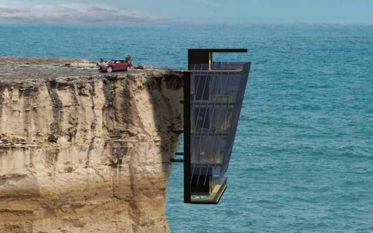釘在懸崖旁的「懸崖屋」!心臟大顆者歡迎入住,每天看海看到飽!