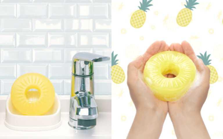 這款鳳梨不能吃!日本品牌推「鳳梨罐頭肥皂」,味道酸甜還有滋潤效果!