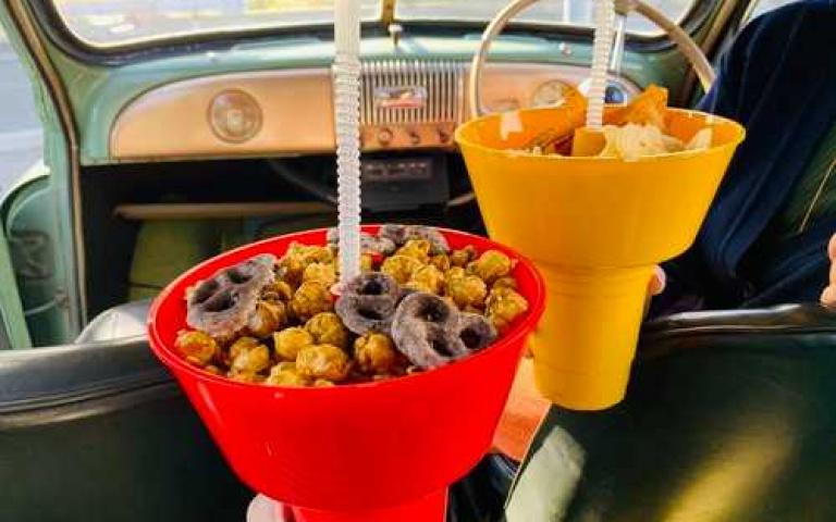 宅在家裡看劇或公路旅行必備好物!零食飲料放的整整齊齊,日本DULTON CARRY SNACK TUB WITH TUMBLER!
