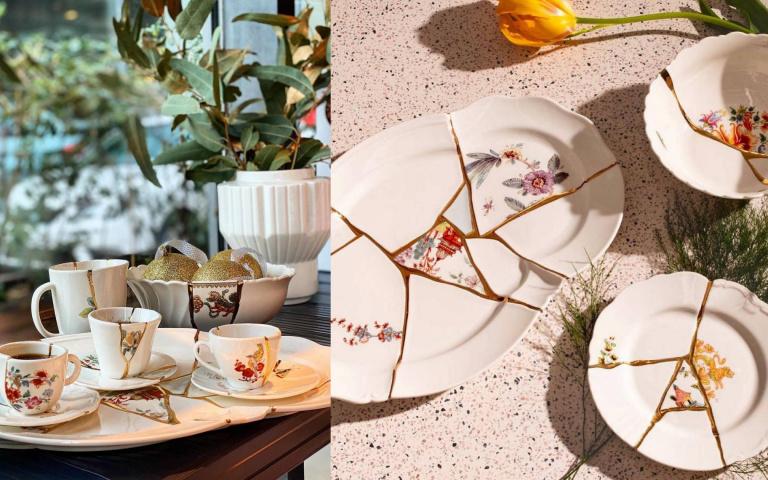 將裂痕留存為記憶的軌跡!義大利「金繼」拼接碗盤成了獨特藝術品