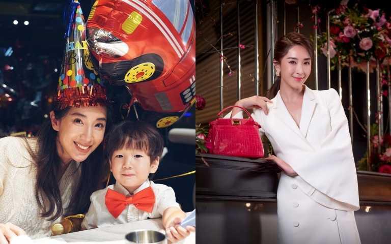隋棠把兒子老公打扮成紅包過新年,自己不穿紅,只拿珍稀皮革紅PEEKABOO ICONIC MINI美美線上看秀!