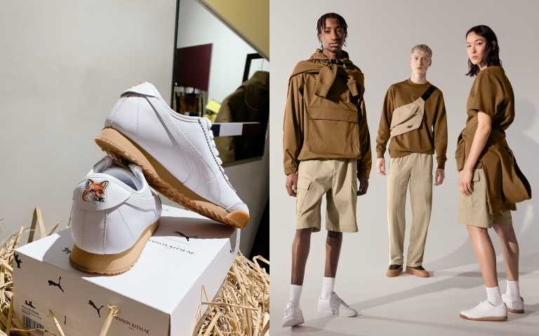 全球最時髦的小狐狸現蹤!PUMA 聯名 MAISON KITSUNÉ 推出系列單品,小狐狸刺繡復古小白鞋必需收!