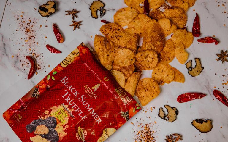 《大發不動產》張娜拉最愛零食 松露洋芋片推麻辣口味 台灣搶先全球上市